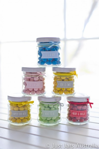 100ml round jar plus banner stickers (various designs)