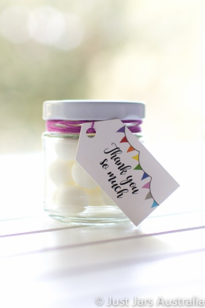 100ml round jar plus tags (various designs)