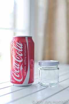 SALE ITEM - 105 x 100ml round glass jars with white lids
