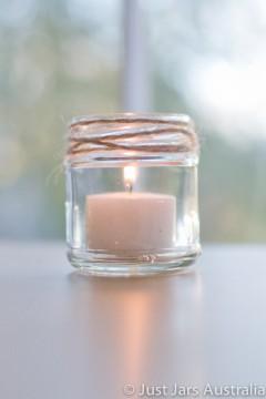 SALE ITEM - 105 x 100ml round glass jars without lids