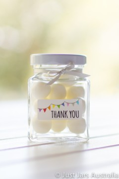 110ml square jar plus bunting stickers