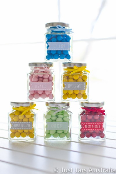 110ml square jar plus banner stickers (various designs)