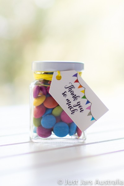 110ml square jar plus tags (various designs)