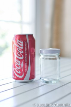 SALE ITEM - 105 x 150ml round glass jars with white lids