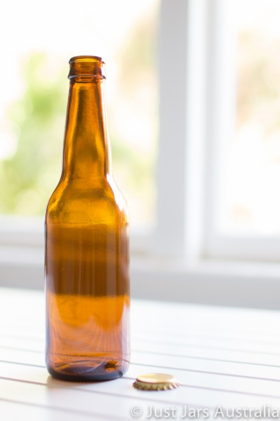 330ml long-neck amber beer bottle (with crown seal)