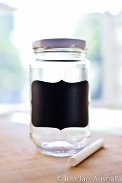 DIY 375ml chalkboard jars (with lids)