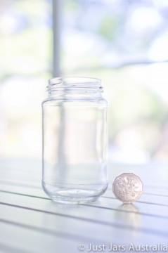 SALE ITEM - 60 x 375ml round jars without lids