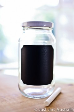 DIY 500ml chalkboard jars (with lids)