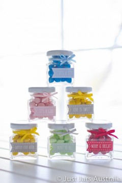 50ml square jar plus banner stickers (various designs)