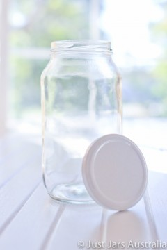 750ml round jar (with lid)
