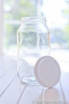 750ml round jar (with lid)