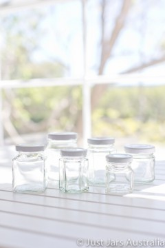 Sample pack - 6 mini favour jars (with lids)