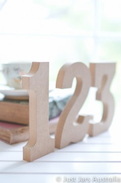 15cm unpainted table numbers