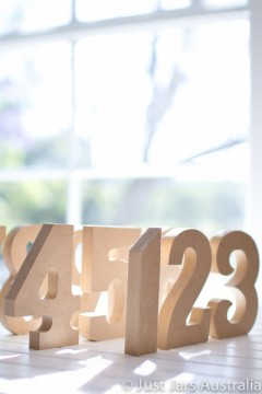 12cm unpainted table numbers