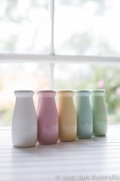 Ceramic milk bottle (200ml) - Set of 5