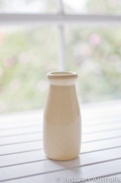 Ceramic milk bottle (200ml) - Buttercup yellow