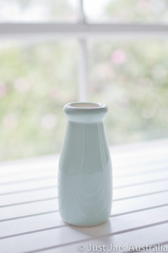 Ceramic milk bottle (200ml) - Duck egg blue