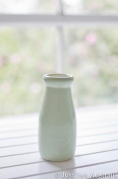 Ceramic milk bottle (200ml) - Mint green