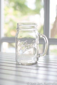 Mason jar - Drink mug with handle - LIMITED STOCK