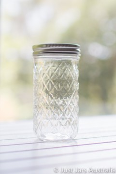 Mason jar - Quilted Tall (3/4 pint) - LIMITED STOCK