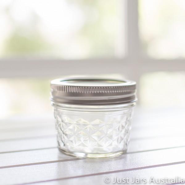 Just Jars - Mason jar - Mini quilted (quarter-pint) : quilted mason jars bulk - Adamdwight.com