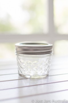 Mason jar - Mini quilted (quarter-pint)