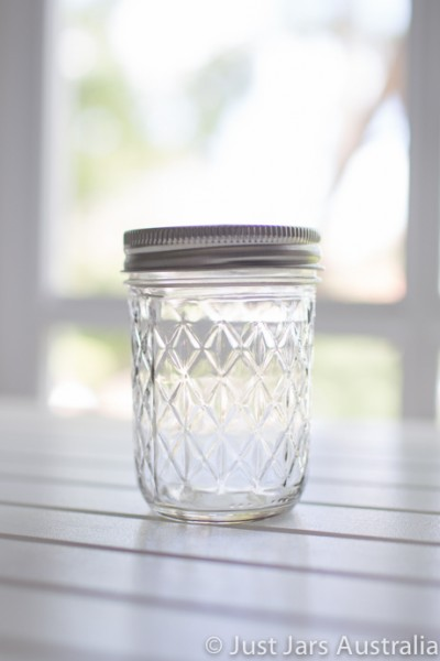 Mason jar - Quilted (half-pint)